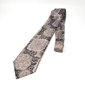 4/$25 Wembley | Paisley Silver Polyester Mens Tie